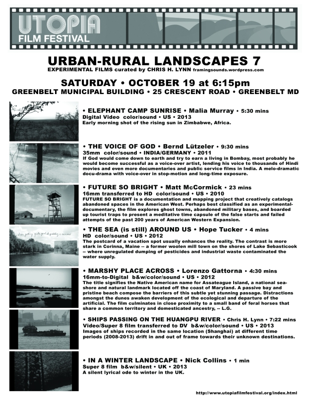 Urban-Rural 7 Utopia 2013 Flyer