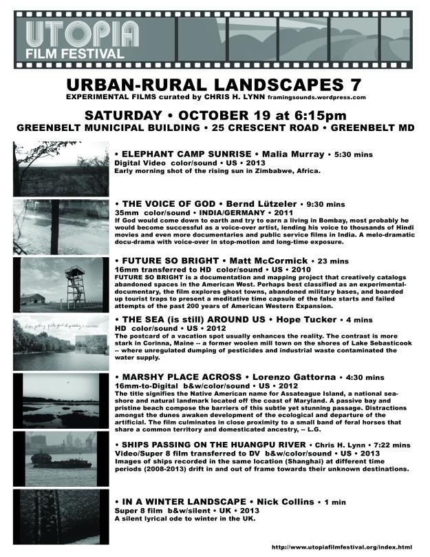 Urban-Rural 7 Utopia 2013 Flyer