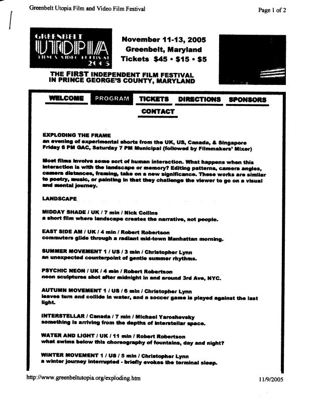 2005 Oct Utopia Exploding the Frame1