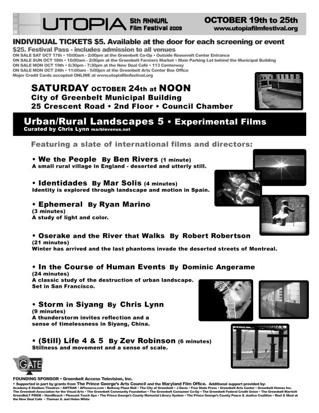 2009 Oct 24 Utopia Urban-Rural 5 Flyer