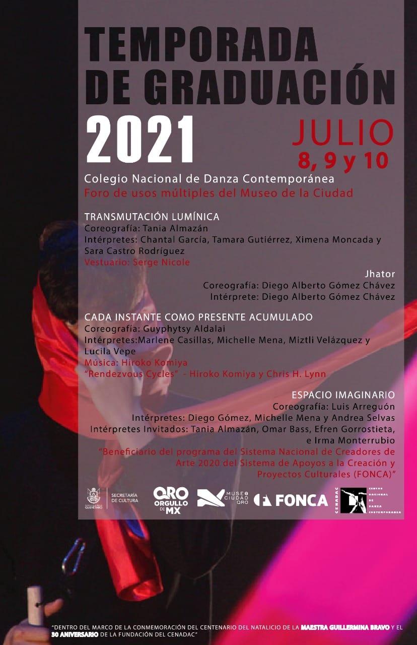 Programa de la TEMPORADA DE GRADUATION 2021